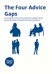 Report cover for The Four Advice Gaps