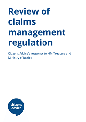 Review of claims management regulation response cover image