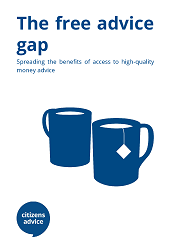 "Cover report image for ""the free advice gap"""