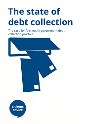 "Cover report for ""The state of debt collection"""