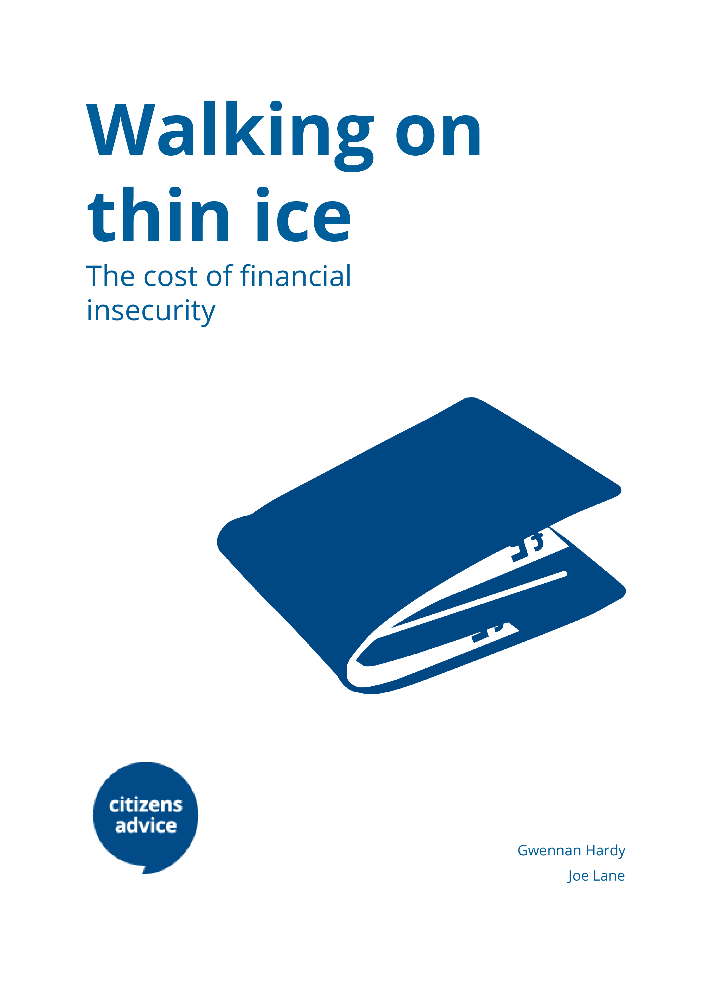 Walking on Thin Ice: The cost of financial insecurity