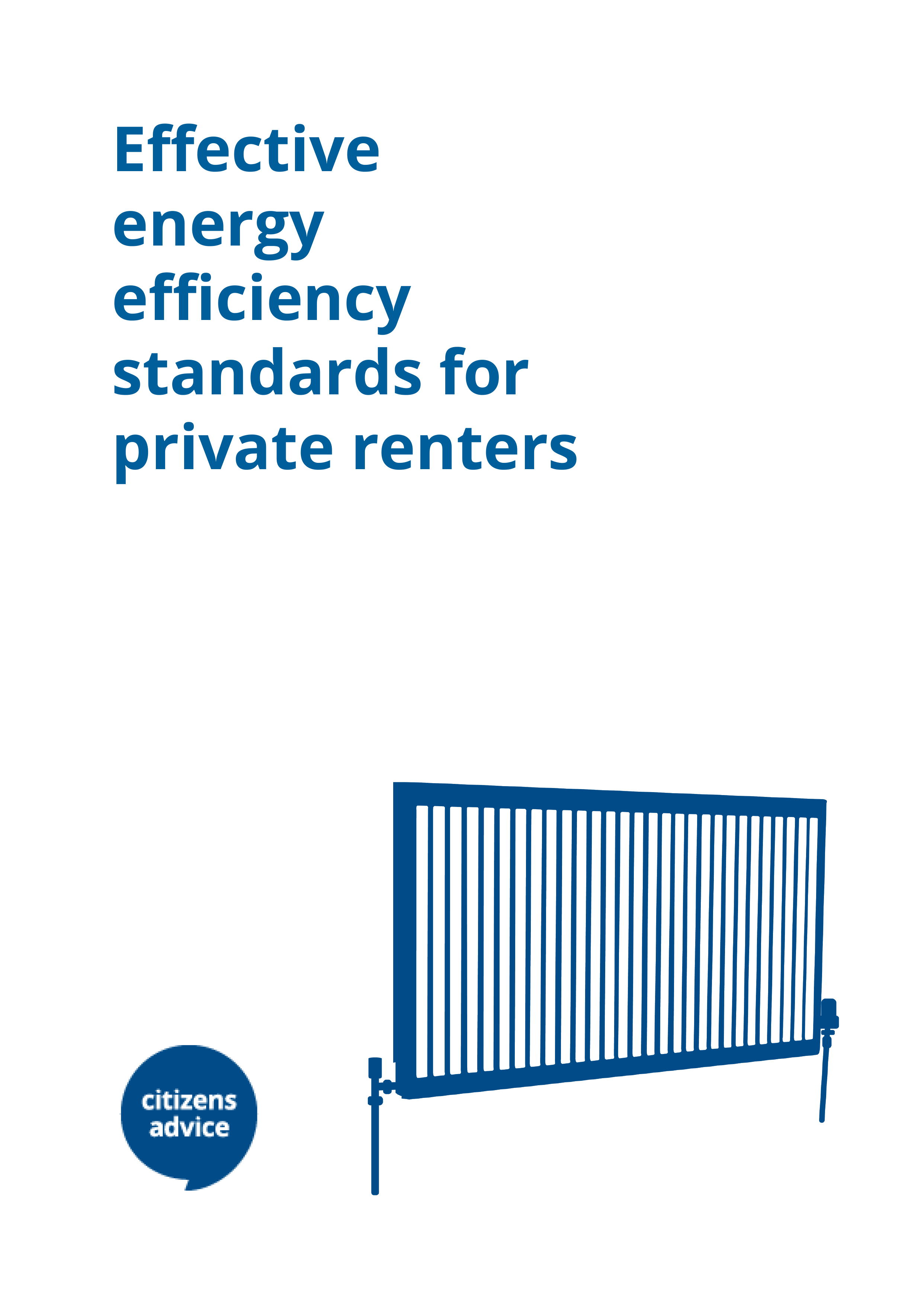 Effective energy efficiency standards for private renters