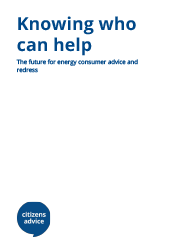 report cover for Knowing who can help