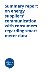 Summary report on energy suppliers communication with consumers regarding smart meter data cover image