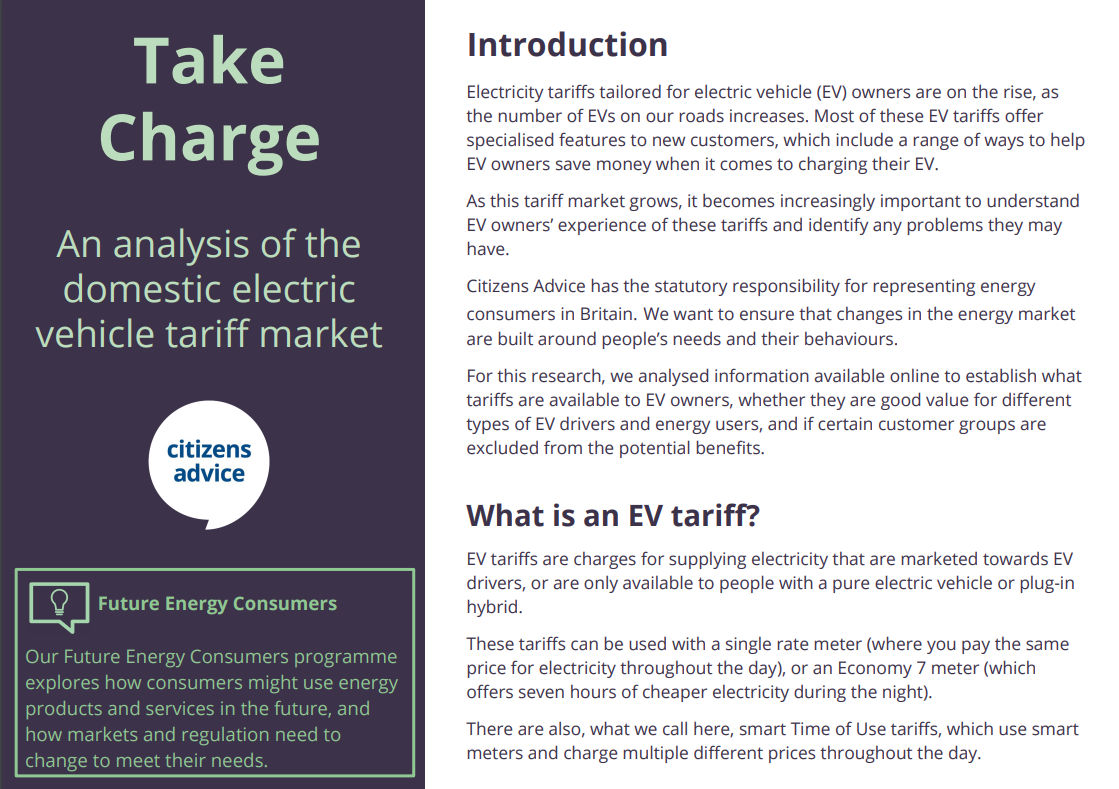Take charge - infographic first page