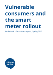cover report image for Vulnerable consumers and the smart meter rollout report