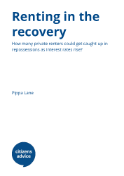 Report cover for renting in the recovery