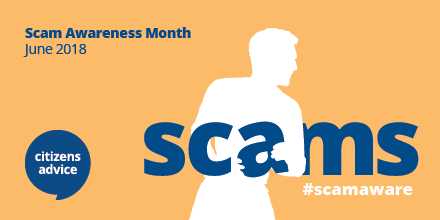 Scam Awareness Month, June 2018. #scamaware