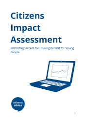 Cover for Housing Benefit Impact report