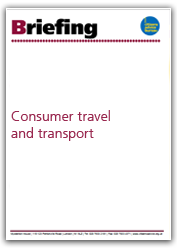 Consumer, travel and transport briefing cover