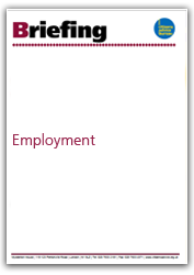 Employment briefing cover