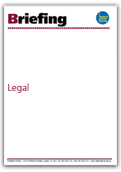 Legal briefing cover