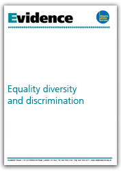 Equality, diversity and discrimination evidence cover