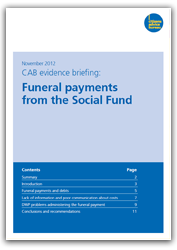Funeral payments and the social fund publication