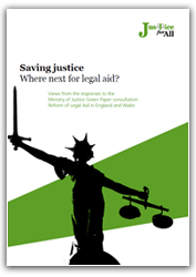 Saving justice report cover