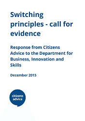 Cover for Switching principles - call for evidence.