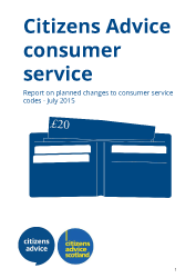 Report cover for Citizens Advice Consumer Codes Report