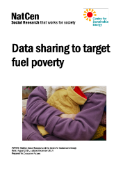 Data sharing to target fuel poverty