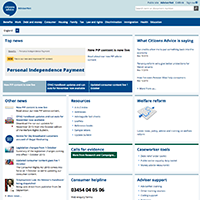 AdviserNet home page